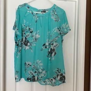 Torrid teal blouse, size 1X